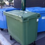 Large bins that have been cleaned inside and out.