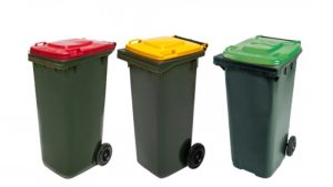 Examples of small 2 wheeled wheelie bins (120 litres - 240 litres) - Wheelie Wheelie Clean